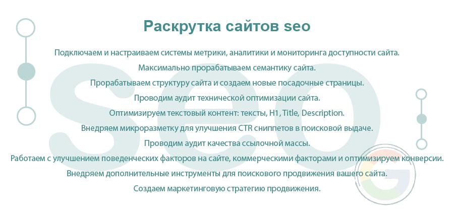 Раскрутка сайтов SEO